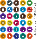 white solid icon set  plunger... | Shutterstock .eps vector #1301347174