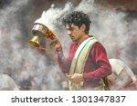 varanasi  india  january 21... | Shutterstock . vector #1301347837