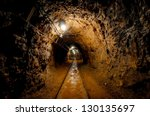 underground mine passage with... | Shutterstock . vector #130135697