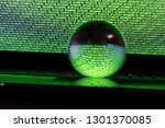 notebook with crystall ball - stock photo