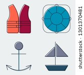 travel and tourism line icons... | Shutterstock .eps vector #1301370481