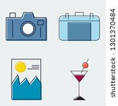 travel and tourism line icons... | Shutterstock .eps vector #1301370484