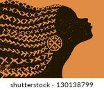 silhouette of woman.beautiful...   Shutterstock .eps vector #130138799