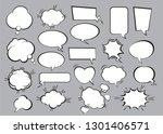 set of comic speech bubbles.... | Shutterstock .eps vector #1301406571