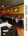 restaurant interior | Shutterstock . vector #1301409