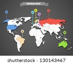 world map infographic template. ... | Shutterstock .eps vector #130143467