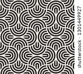 vector seamless arc lines...   Shutterstock .eps vector #1301449927