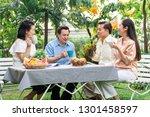senior afternoon tea. asian...   Shutterstock . vector #1301458597