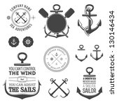 set of vintage nautical labels  ... | Shutterstock .eps vector #130146434