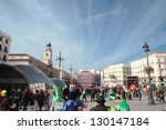 madrid   march 2  customers of... | Shutterstock . vector #130147184