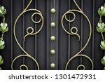 wrought iron gates  ornamental... | Shutterstock . vector #1301472931