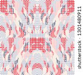 quirky tapestry pattern.... | Shutterstock .eps vector #1301480911