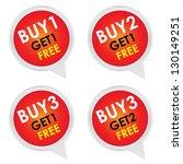 sticker or label for marketing... | Shutterstock . vector #130149251