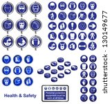 health and safety icons and... | Shutterstock .eps vector #130149677