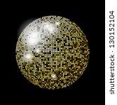 glitter ball design | Shutterstock . vector #130152104