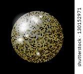 glitter ball design in eps10... | Shutterstock .eps vector #130152971