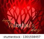 valentine's day greeting card | Shutterstock .eps vector #1301538457