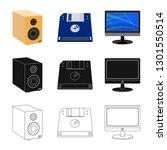 bitmap illustration of laptop... | Shutterstock . vector #1301550514