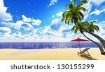 beautiful palm beach | Shutterstock . vector #130155299