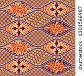 batik seamless pattern   Shutterstock .eps vector #1301566987