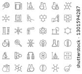 chemistry linear icons set.... | Shutterstock .eps vector #1301594287