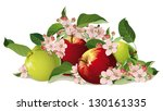 still life of apples with... | Shutterstock .eps vector #130161335