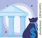 bank building design | Shutterstock .eps vector #1301614921