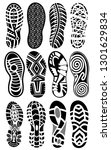 shoe prints big set vector... | Shutterstock .eps vector #1301629834