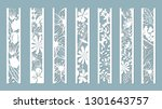 panels with floral pattern.... | Shutterstock .eps vector #1301643757