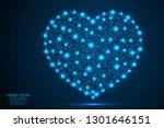 abstract polygonal heart.... | Shutterstock .eps vector #1301646151