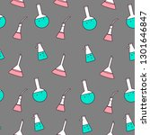 vector seamless pattern with... | Shutterstock .eps vector #1301646847