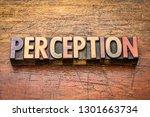 perception  word in vintage... | Shutterstock . vector #1301663734
