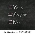 yes  no maybe and check boxes... | Shutterstock . vector #130167311