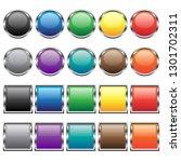 vector buttons for web design.... | Shutterstock .eps vector #1301702311
