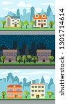 set of three illustrations of... | Shutterstock . vector #1301714614