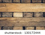 Background Of Stacked Wood Cut...