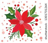 christmas card with beautiful... | Shutterstock .eps vector #1301731264