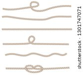 set of different knots and... | Shutterstock .eps vector #1301747071