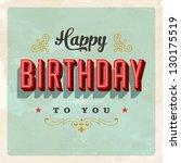 Vintage Birthday Card   Vector...