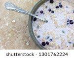 top close view of organic... | Shutterstock . vector #1301762224