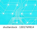 keyboard circuit membrane  blue ...   Shutterstock . vector #1301769814