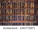 brown wooden texture flooring... | Shutterstock . vector #1301772871