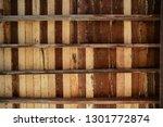 brown wooden texture flooring... | Shutterstock . vector #1301772874