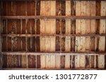 brown wooden texture flooring... | Shutterstock . vector #1301772877