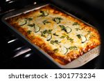 Stock photo lasagna noodle made from zucchini slices 1301773234