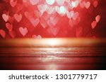 bright red hearts abstract... | Shutterstock . vector #1301779717