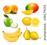 big group of different fruit.... | Shutterstock .eps vector #130179251