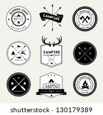 camping labels set | Shutterstock .eps vector #130179389