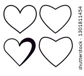love icon vector set | Shutterstock .eps vector #1301811454