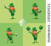 set comic leprechaun character | Shutterstock .eps vector #1301824111